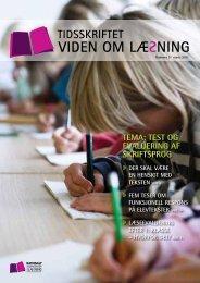 tema: test og evaluering af skriftsprog - Viden om Læsning