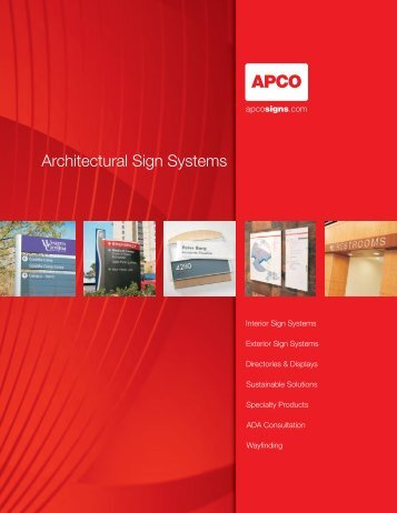 Complete 2012 Product Catalog Download - Apcosigns.com