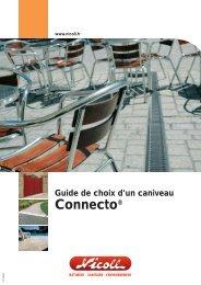 Guide de choix d'un caniveau Connecto - Nicoll