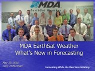 MDA EarthSat Weather What's New in Forecasting
