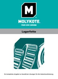 Molykote® Lagerfette (deu.)