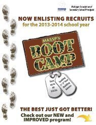 now enlisting recruits - Michigan Association of Secondary School ...