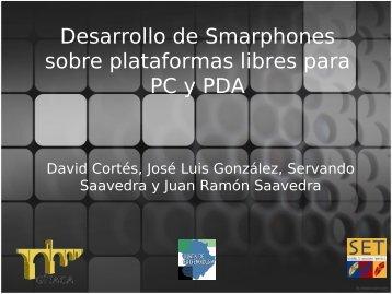 IPFONOS:Desarrollo de Smarphones sobre plataformas ... - gítaca