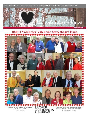 The Volunteer's Voice - Roper St. Francis Healthcare