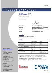 "PRODUCT DATASHEET Antifreeze ""L*"" - SEG Solar Energy GmbH"