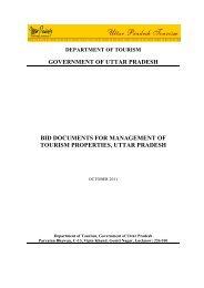 Revised RFP for Management of Tourism Property - Uttar Pradesh ...