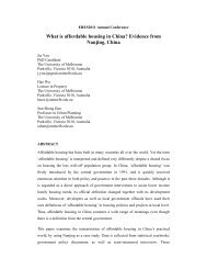 What is affordable housing in China? Evidence from Nanjing, China