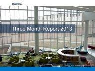Three Month Report 2013 - Skanska