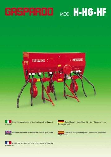 Machines portées pour la distribution d'engrais granulaires - Maschio