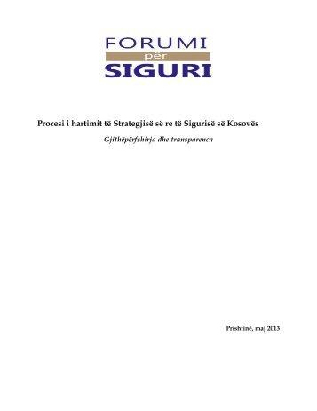 Procesi i hartimit të Strategjisë së re të Sigurisë së Kosovës