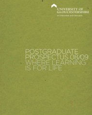 Postgraduate ProsPectus 08 09 where learning is for life