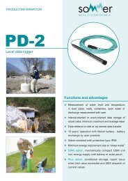 Functions and advantages » » » » » » » » Level data logger