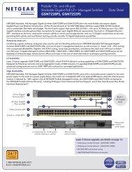 ProSafe® 24- and 48-port Stackable Gigabit PoE L2+ Managed ...