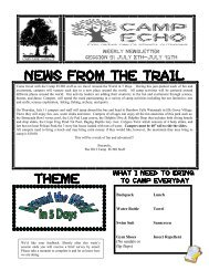 News from the trail theme - Cary Park District