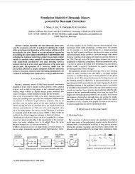Simulation Model for Ultrasonic Motors powered by Resonant ...