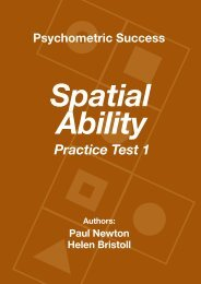 Spatial Ability - Practice Test 1 - Psychometric Success