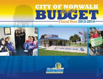 2013-2014 Adopted Budget - City of Norwalk