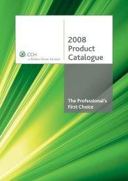 2008 Product Catalogue - CCH Australia