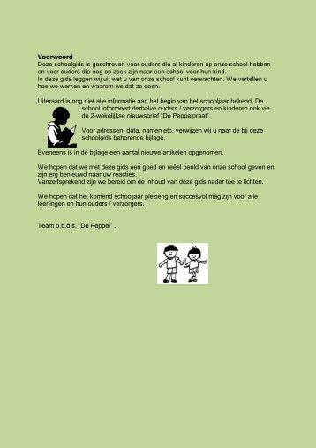 schoolgids 13-14 website - ODS De Peppel