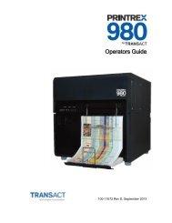 Printrex 980 Operator's Guide - TransAct