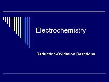 Electrochemistry PowerPoint
