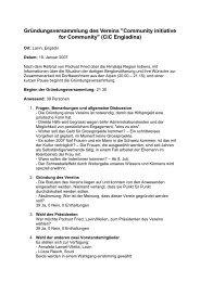 Protokoll der Gründungsversammlung - Über CiC-Engiadina