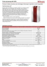 Fiche de données Pompe à chaleur eau/eau avec ... - Av2l.fr