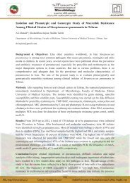 Isolation and Phenotypic and Genotypic Study of Macrolide ...