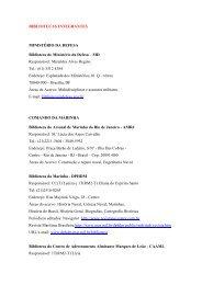 BIBLIOTECAS INTEGRANTES MINISTÉRIO DA DEFESA Biblioteca ...