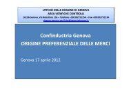 origine preferenzialex - Confindustria Genova