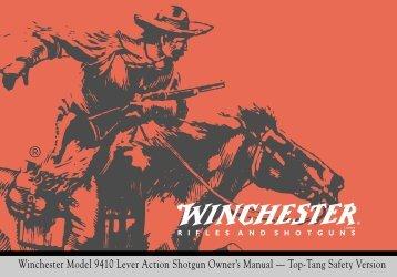 Winchester Model 9410 Lever Action Shotgun Owner's Manual ...