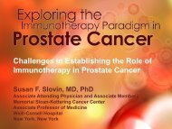 Challenges in Establishing the Role of Immunotherapy in Prostate ...