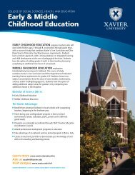 Early & Middle Childhood Education - Xavier University