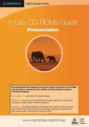 in Use CD-ROMs Guide - Cambridge University Press