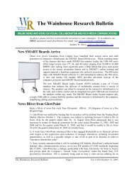 WR Bulletin Vol 6 Issue #34 13-Oct-05 - Wainhouse Research