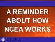 How NCEA Works - Otumoetai College