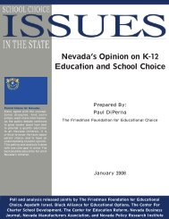 Nevada's Opinion on K-12 Education and School Choice