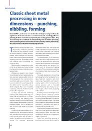 Classic sheet metal processing in new dimensions – punching ...