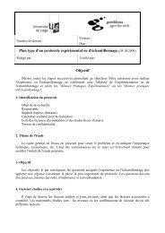Plan type d'un protocole expérimental ou d'échantillonnage (05.10 ...