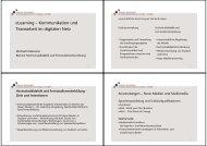 eLearning Ó Kommunikation und Teamarbeit im digitalen Netz