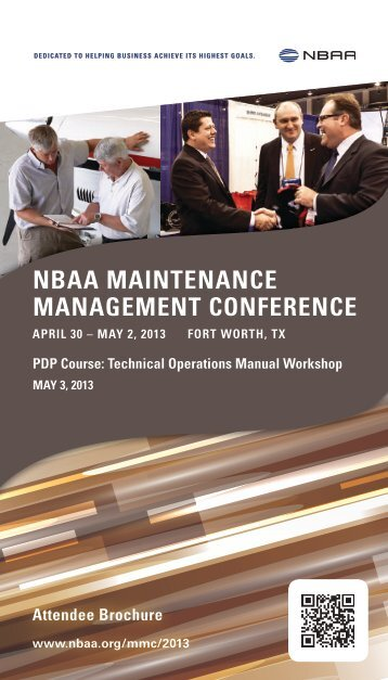 Download the Attendee Brochure (1.44 MB, PDF) - NBAA