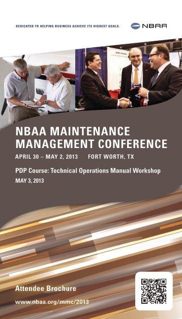 Download the Attendee Brochure (1.44 MB, PDF) - NBAA