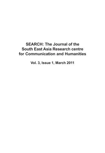 Contents and Foreword - South East Asia Research Centre for ...