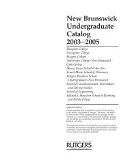 Programs of Study for Liberal Arts Students - Catalogs - Rutgers ...