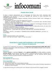 per i Comuni di pianura - Regione Lombardia