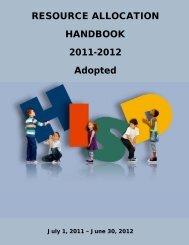 Resource Allocation Handbook - Texas Association of School ...