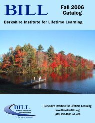 Fall 2006 Catalog - BerkshireOLLI.org