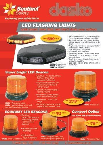 LED FLASHING LIGHTS - DASKO