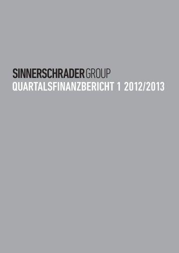 Quartalsbericht 1 2012/2013 - SinnerSchrader AG