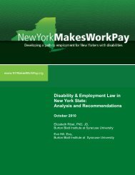 Disability & Employment Law in New York State - Cornell University